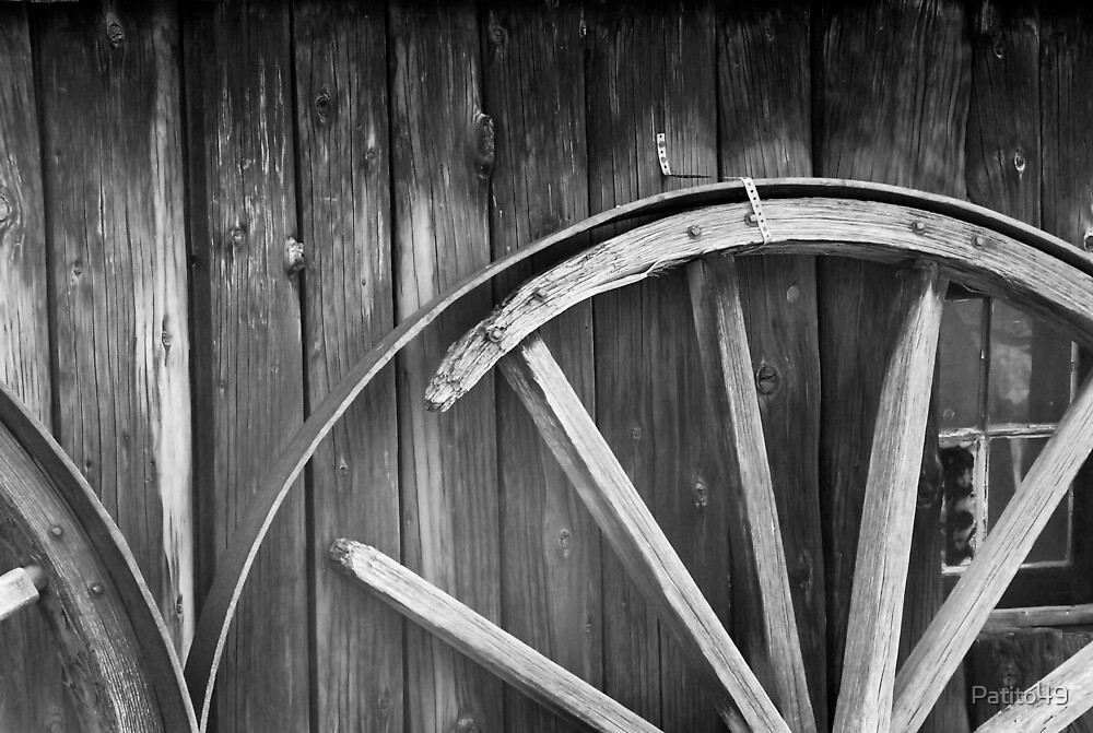 Old Wheel by the Blacksmith's Shop by Patito49