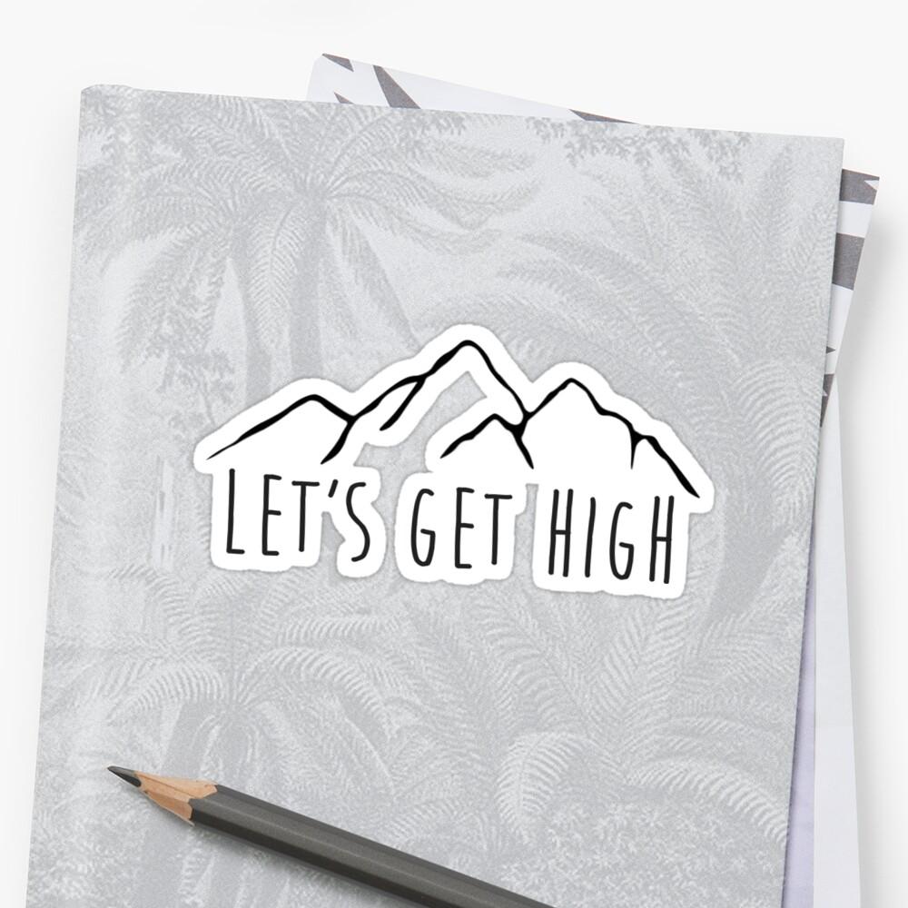Permite obtener montañas altas Pegatina