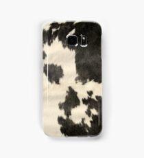 Black & White Cow Hide Samsung Galaxy Case/Skin
