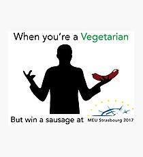Sausage for Vegetarians Photographic Print
