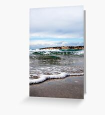 Ocean Tide and Blue Sky Greeting Card