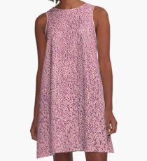 Motel Pink Shag Pile Carpet A-Line Dress