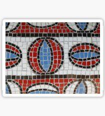 Handmade mosaic background Sticker