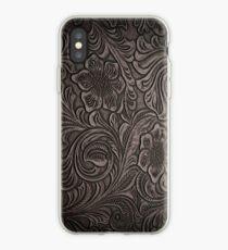 Vinilo o funda para iPhone Cuero desgastado Smoky Tooled