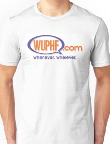 """""""WUPHF.com"""" Logo - As seen on """"The Office"""" Unisex T-Shirt"""