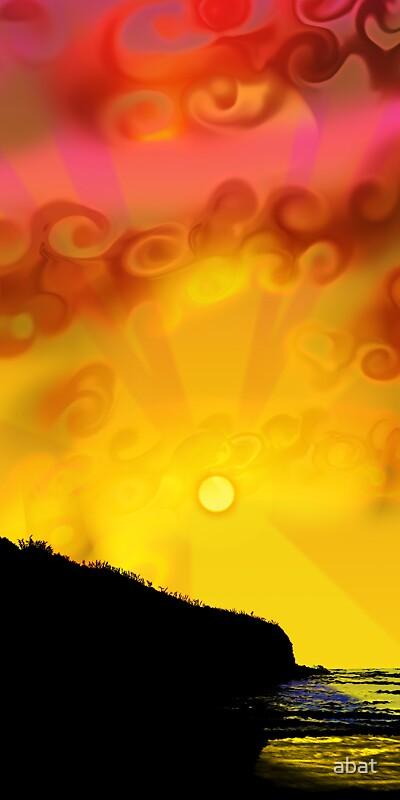Opunake Sunset by abat