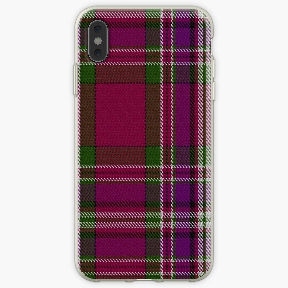 """MacFarlane (Lord Lyon Sett) Clan/Family Tartan "" IPhone"