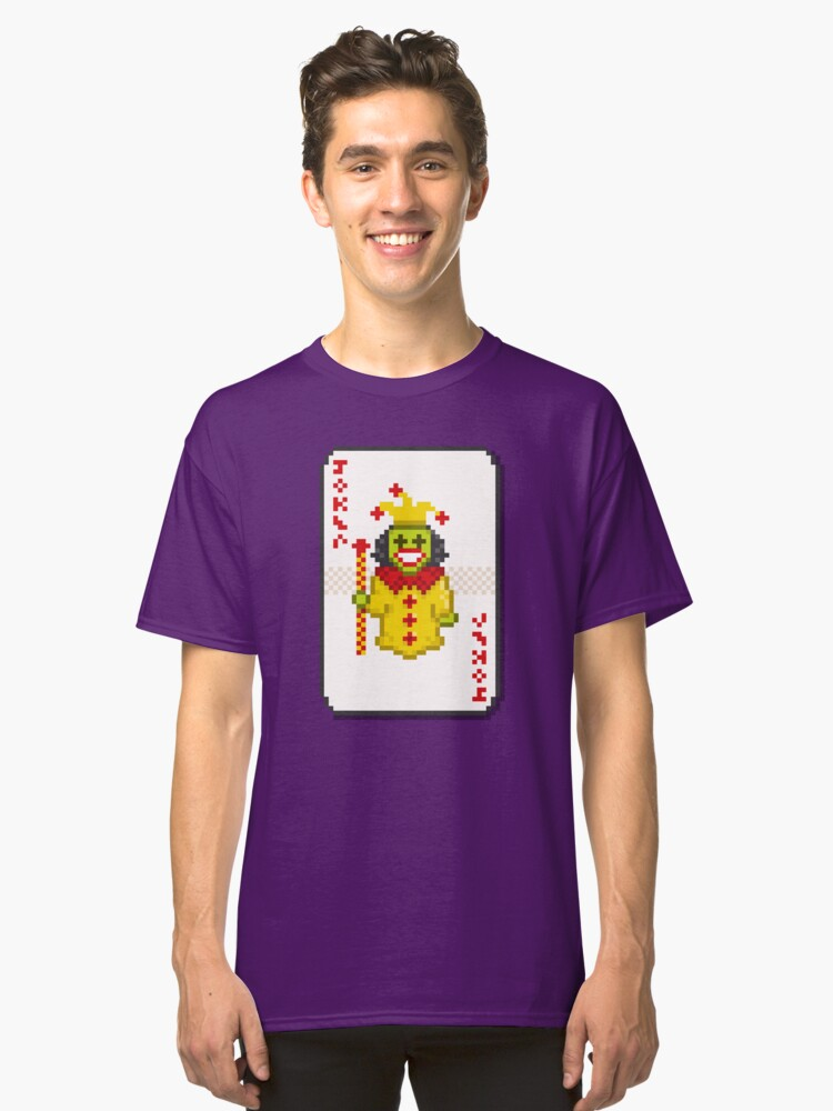 Pixel Joker Classic T-Shirt Front