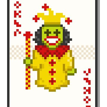 Pixel Joker by pencilfury