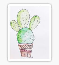 Cactus in the desert Sticker