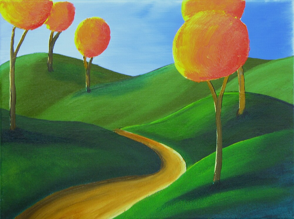Treelined Path by Dean Williamson