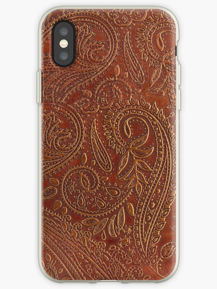the best attitude 50467 a34b4 'Rusty Tooled Leather' iPhone Case by TheGhostTown