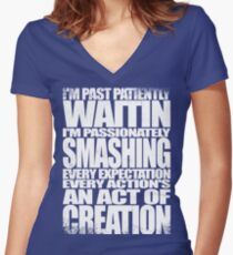 Past Patiently Waitin Women's Fitted V-Neck T-Shirt