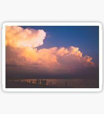 Sunset Beach Clouds Ocean Sticker