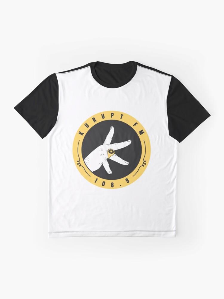 Vista alternativa de Camiseta gráfica kurupt fm