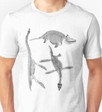 Prehistoric Dinosaur Sea Monster Skeleton Anatomy T Shirt Unisex T-Shirt