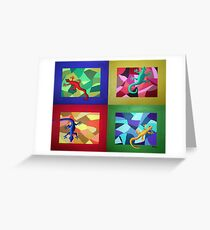 Lizard Dance Greeting Card