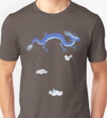 Blue Dragon and Mountain Unisex T-Shirt