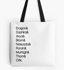Character List Eragon Tote Bag