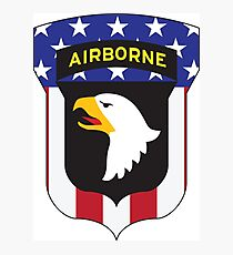 101ST AIRBORNE DIVISION PATRIOT Photographic Print
