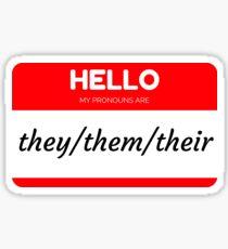 They/Them/Their Pronoun Sticker Sticker
