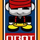 Firefighter HERO'BOT Toy Robot 3.1 by Carbon-Fibre Media