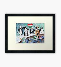 The Penguins From Budapest Framed Print