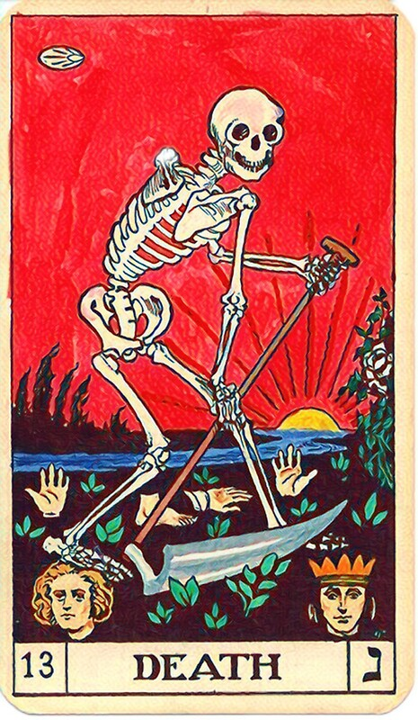 Death tarot card sticker by seuril