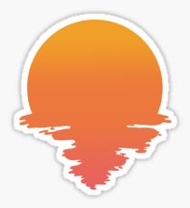 Sunset drip Sticker