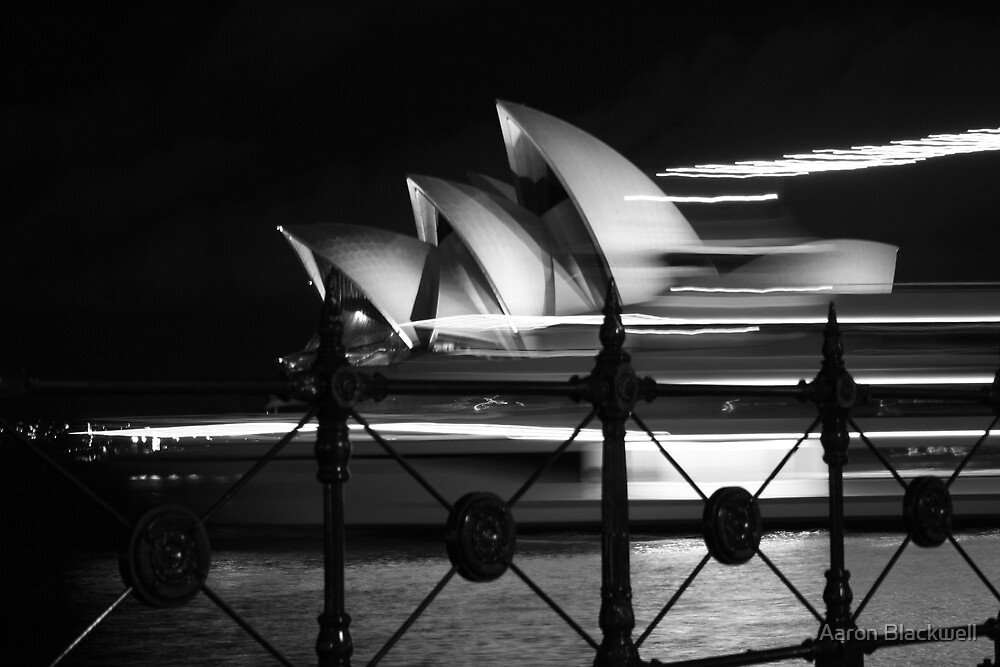 Opera House & Boat by Aaron Blackwell