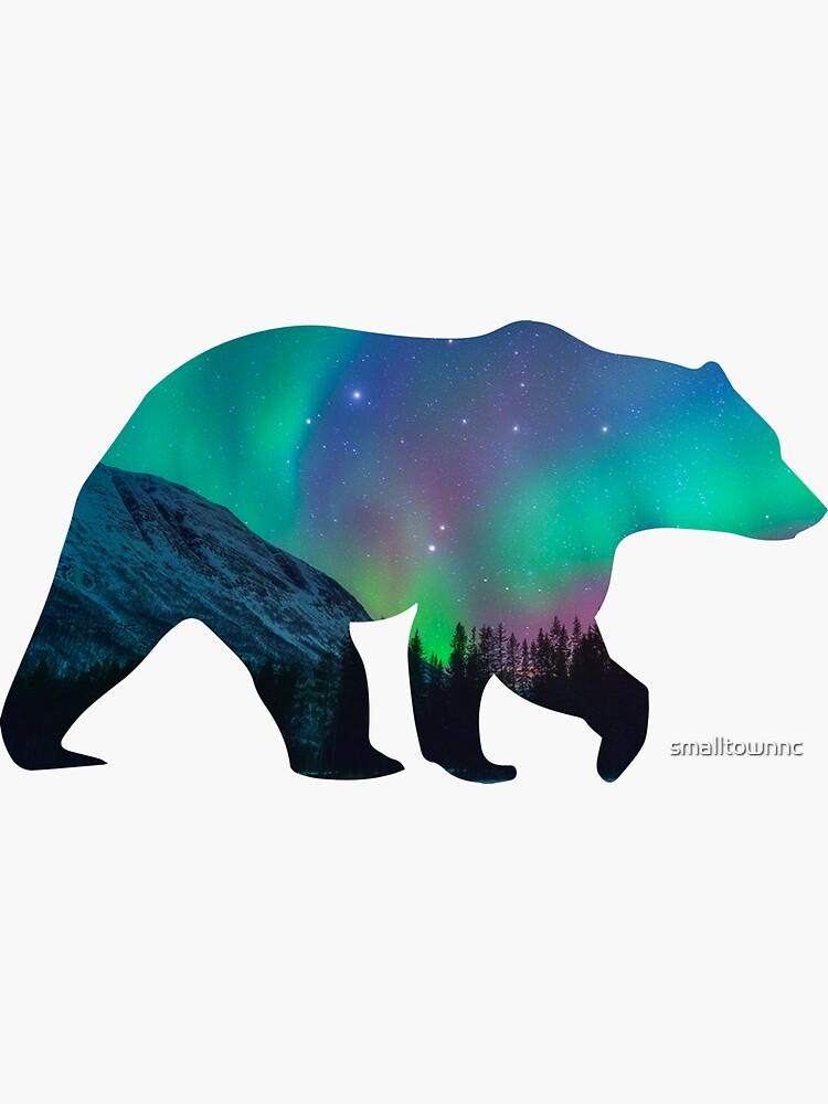 Northern Lights Bear by smalltownnc