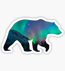 Northern Lights Bear Sticker