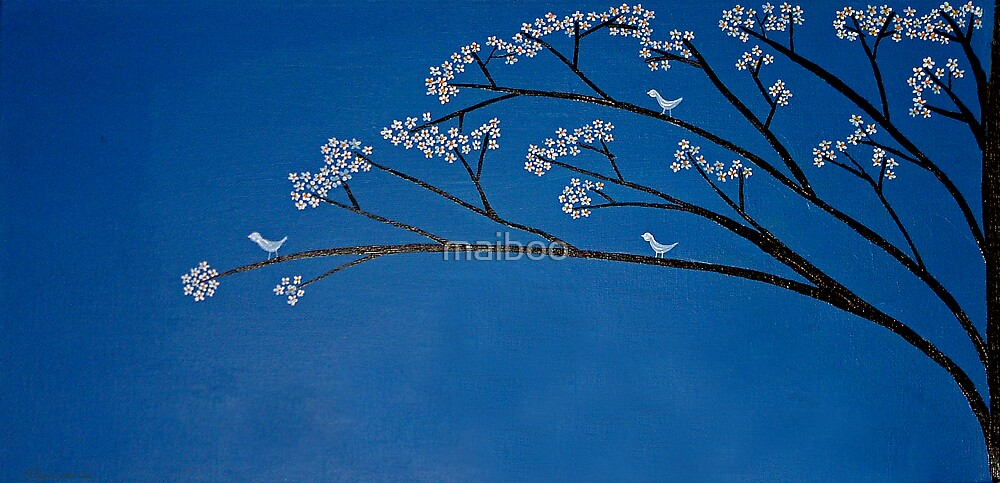 Birds and a tree by maiboo