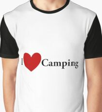 I Heart Camping Graphic T-Shirt