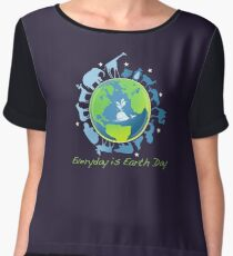 Everyday is Earth Day Women's Chiffon Top