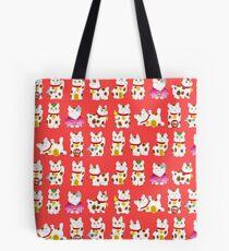 Maneki-Neko (Lucky Cat) Pattern Tote Bag