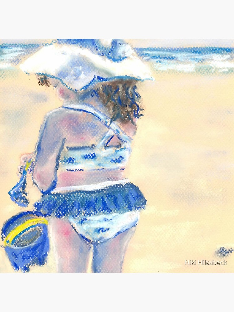 Little Chunky Thighs on the Beach (Pastel) by nikihilsabeck