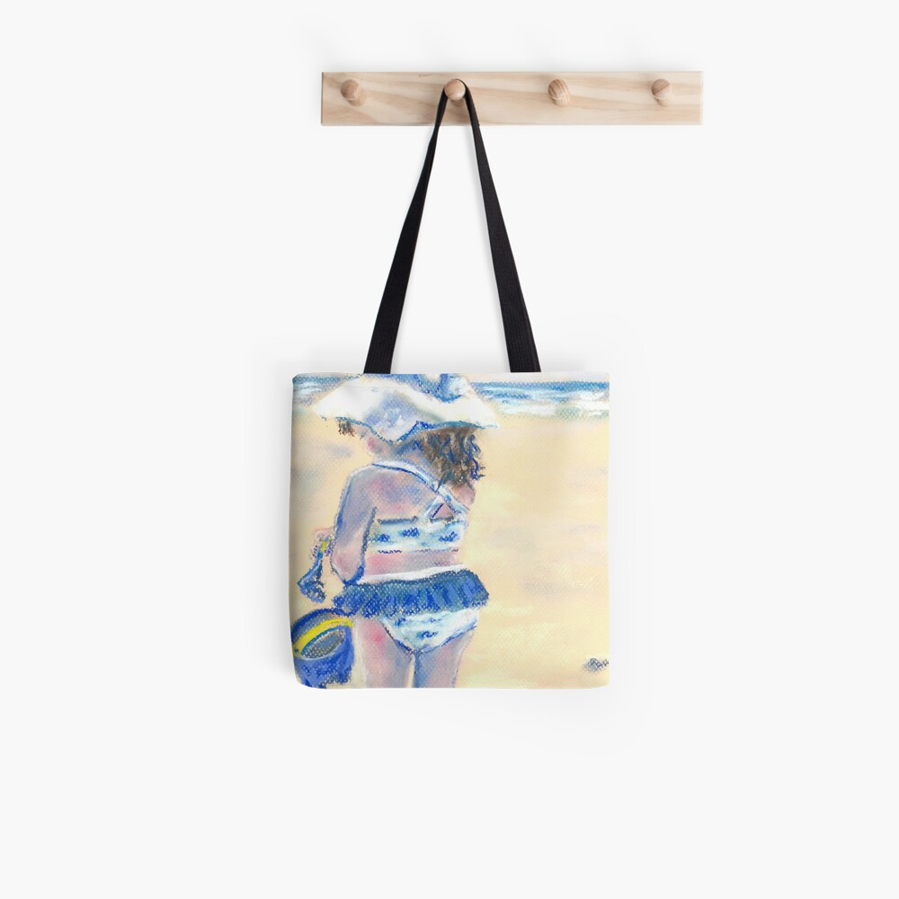 Little Chunky Thighs on the Beach (Pastel) Tote Bag