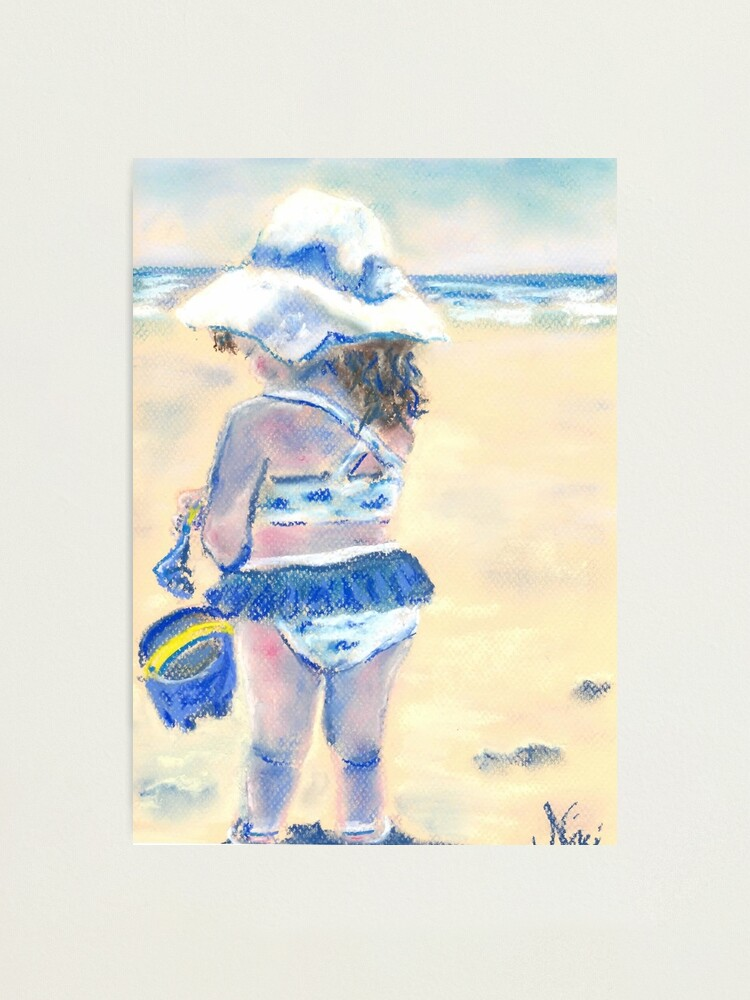 Alternate view of Little Chunky Thighs on the Beach (Pastel) Photographic Print