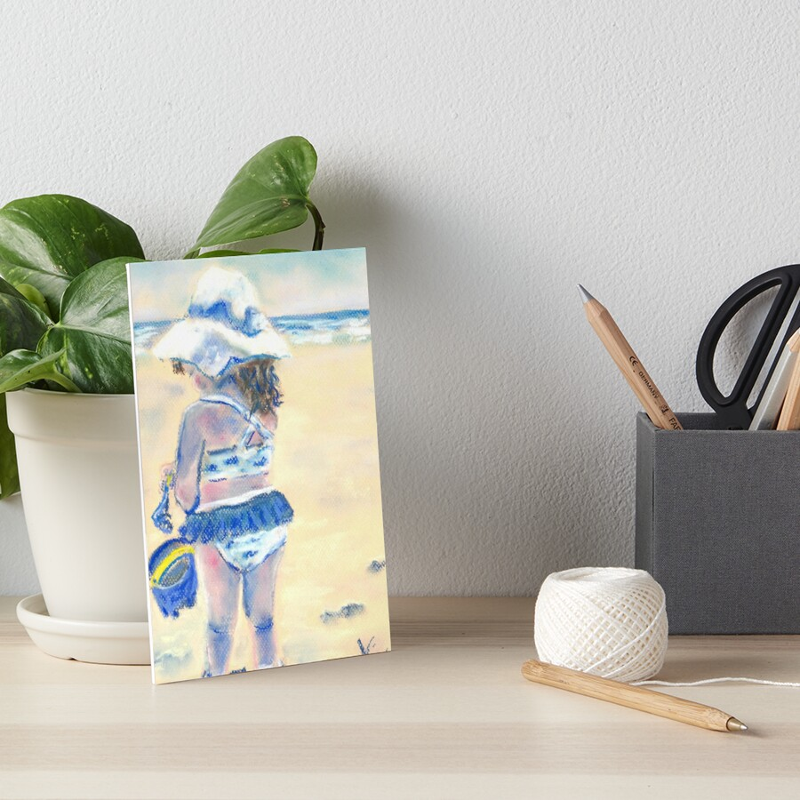 Little Chunky Thighs on the Beach (Pastel) Art Board Print