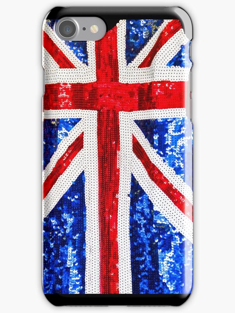 Union Jack Glitterati - iPhone Cover by Bryan Freeman
