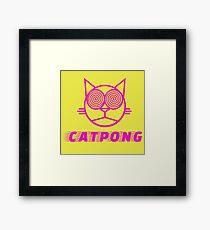 Cat pong Framed Print