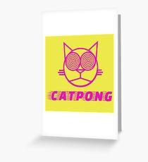 Cat pong Greeting Card