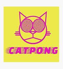 Cat pong Photographic Print
