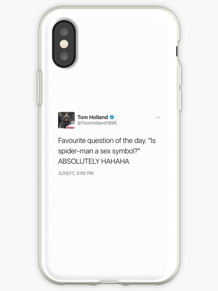 online store 6fe53 85d78 'tom holland tweet' iPhone Case by izzinet