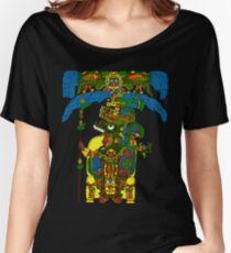 Great Mayan ruler of Tikal on his throne Women's Relaxed Fit T-Shirt