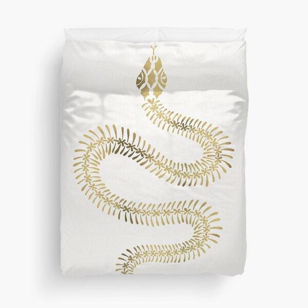 Snake Skeleton – Gold Duvet Cover