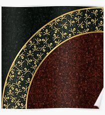 Skull Curve Poster