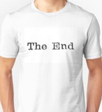 "A close up image of the words ""The End"" from a typewriter T-Shirt"