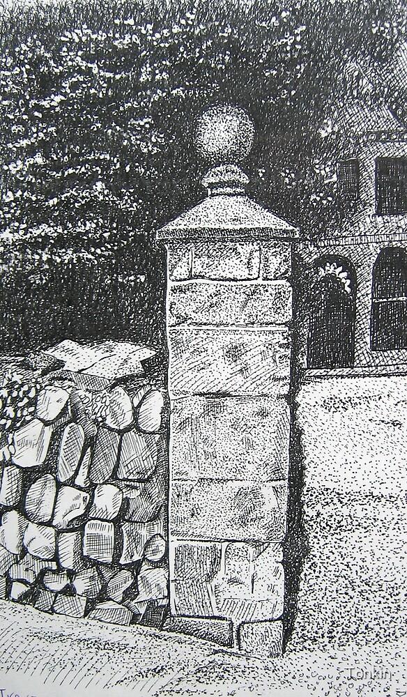 Trevaunance Manor. St. Agnes, Cornwall by Tonkin